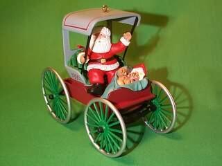 1990 Here Comes Santa #12 - Festive Surrey Hallmark Ornament