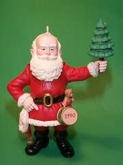 1990 Merry Olde Santa #1 - NB Hallmark Ornament