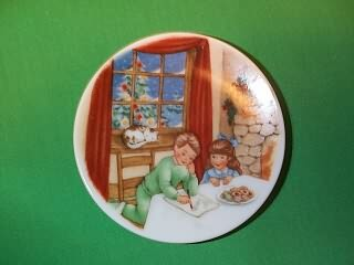 1990 Plate #4 - Cookies For Santa Hallmark Ornament