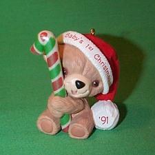 1991 Babys 1st Christmas - Bear Hallmark Ornament