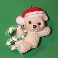 1991 Babys 2nd Christmas - Bear Hallmark Ornament