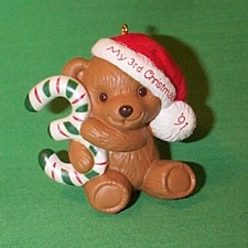 1991 Childs 3rd Christmas - Bear Hallmark Ornament