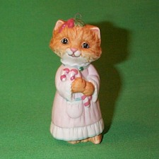 1991 Christmas Kitty #3f Hallmark Ornament