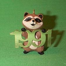 1991 Fabulous Decade #2 - Raccoon Hallmark Ornament