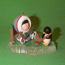 1991 Frosty Friends #12 - Hockey - NB Hallmark Ornament