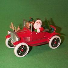 1991 Here Comes Santa #13 - Antique Car Hallmark Ornament