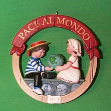 1991 Peace On Earth #1 - Italy Hallmark Ornament