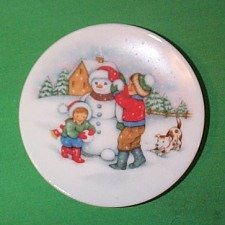 1991 Plate #5 - Let It Snow Hallmark Ornament