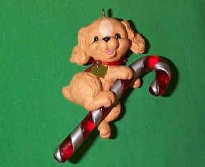 1991 Puppy Love #1 - Cocker Spaniel - NB Hallmark Ornament
