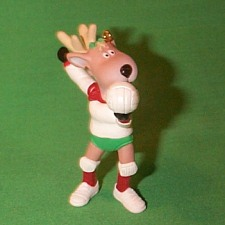 1991 Reindeer Champs #6 -  Cupid Hallmark Ornament