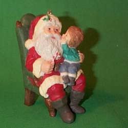 1991 Secrets For Santa Hallmark Ornament