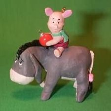 1991 Winnie The Pooh - Piglet And Eeyore Hallmark Ornament