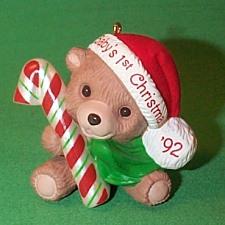1992 Babys 1st Christmas - Bear Hallmark Ornament