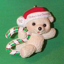 1992 Babys 2nd Christmas - Bear Hallmark Ornament