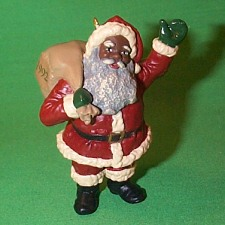 1992 Cheerful Santa Hallmark Ornament