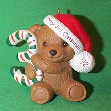 1992 Childs 3rd Christmas - Bear Hallmark Ornament