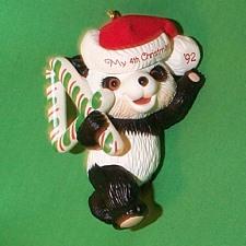 1992 Childs 4th Christmas - Bear Hallmark Ornament