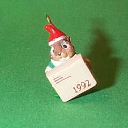 1992 Chipmunk Parcel Service Hallmark Ornament