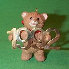 1992 Fabulous Decade #3 - Bear Hallmark Ornament