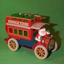 1992 Here Comes Santa #14 - Kringle Tours Hallmark Ornament