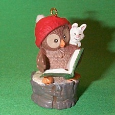 1992 Owliver #1 - Reading Hallmark Ornament