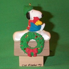 1992 Peanuts Lighted #2 Hallmark Ornament