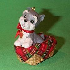 1992 Puppy Love #2 - Schnauzer Hallmark Ornament