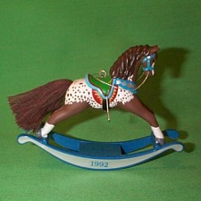 1992 Rocking Horse #12 - Brown - NB Hallmark Ornament