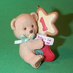 1993 Babys 1st Christmas - Bear Hallmark Ornament
