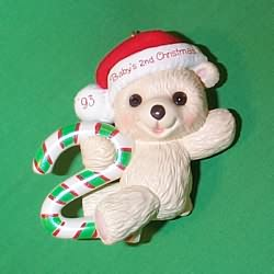 1993 Babys 2nd Christmas - Bear Hallmark Ornament