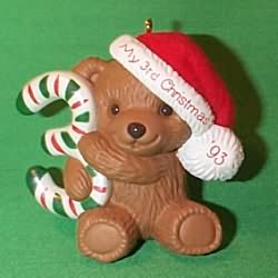 1993 Childs 3rd Christmas - Bear Hallmark Ornament