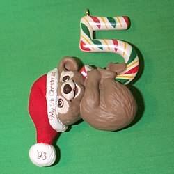 1993 Childs 5th Christmas - Bear Hallmark Ornament