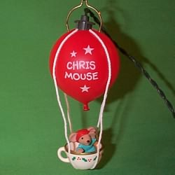 1993 Chris Mouse #9 - Flight Hallmark Ornament