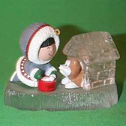 1993 Frosty Friends #14 - Doghouse - NB Hallmark Ornament