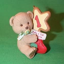 1994 Baby's 1st Christmas - Bear Hallmark Ornament