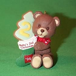 1994 Baby's 2nd Christmas - Bear Hallmark Ornament