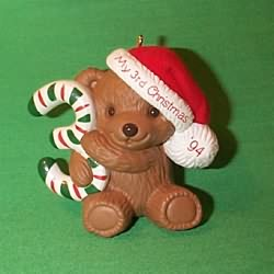 1994 Child's 3rd Christmas - Bear Hallmark Ornament
