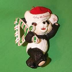 1994 Child's 4th Christmas - Bear Hallmark Ornament