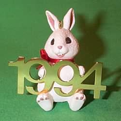 1994 Fabulous Decade #5 - Rabbit Hallmark Ornament