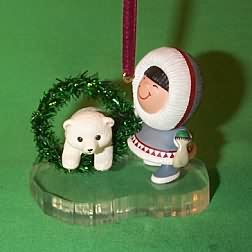1994 Frosty Friends #15 - Wreath - NB Hallmark Ornament