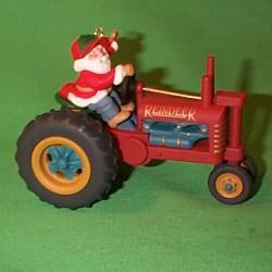1994 Here Comes Santa #16 - Tractor Hallmark Ornament