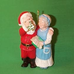 1994 Mr. And Mrs. Claus #9 - A Heart Warming Present Hallmark Ornament