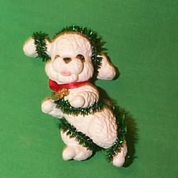 1994 Puppy Love #4 - Poodle - NB Hallmark Ornament