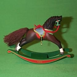 1994 Rocking Horse #14 - Brown - NB Hallmark Ornament
