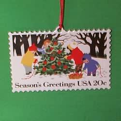 1994 U.s. Christmas Stamp #2 Hallmark Ornament