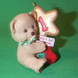 1995 Baby's 1st Christmas - Bear Hallmark Ornament