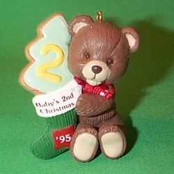 1995 Baby's 2nd Christmas - Bear Hallmark Ornament