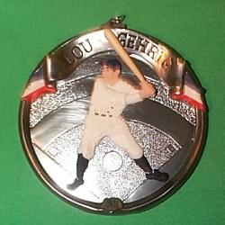 1995 Baseball Heroes #2 - Lou Gehrig Hallmark Ornament