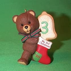 1995 Child's 3rd Christmas - Bear Hallmark Ornament