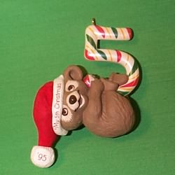 1995 Child's 5th Christmas - Bear Hallmark Ornament